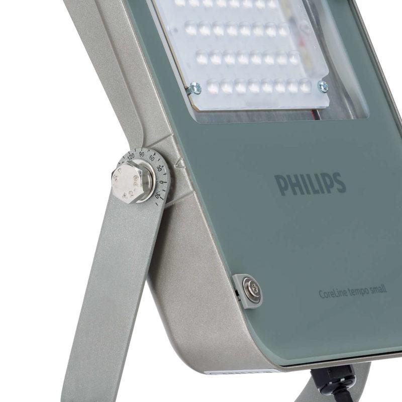 Philips BVP110 CoreLine Tempo Small LED Floodlight 38W Grey 4000K Asymmetrical Tilt