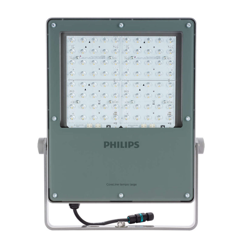 Philips BVP130 CoreLine Tempo Large LED Floodlight 217W Grey 4000K Symmetrical Main