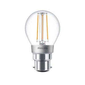Philips LED Filament Bulb Clear P45 B22 4.5W 2700K