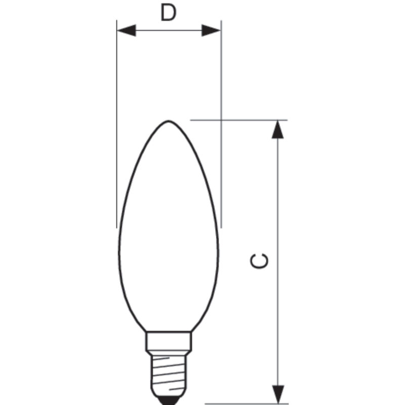 Philips LED Filament Candle E14 4.5W 2700K-929001227202-Diagram