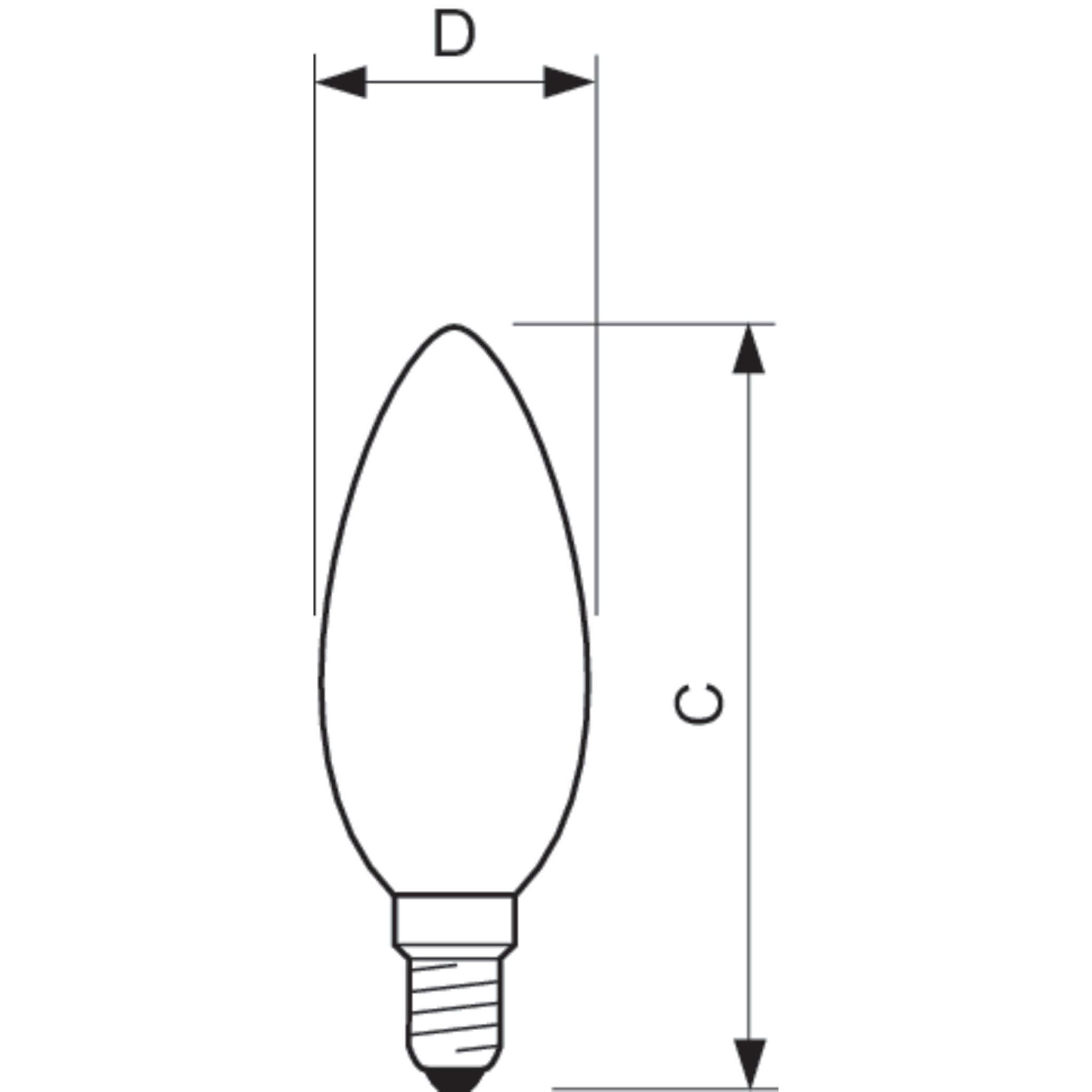 philips led filament candle bulb clear b35 e14 5w 2700k