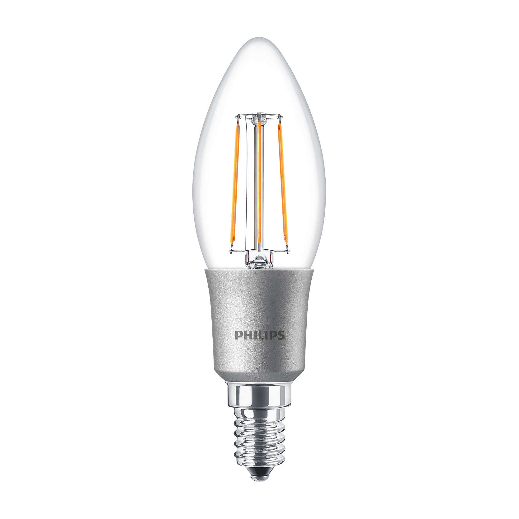 philips led filament candle bulb clear b35 e14 4 5w 2700k. Black Bedroom Furniture Sets. Home Design Ideas