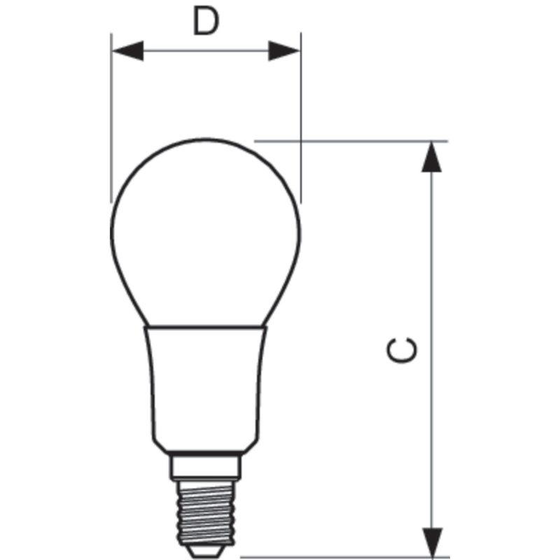 Philips LED Filament E14 4.5W 2700K-929001227402-Diagram