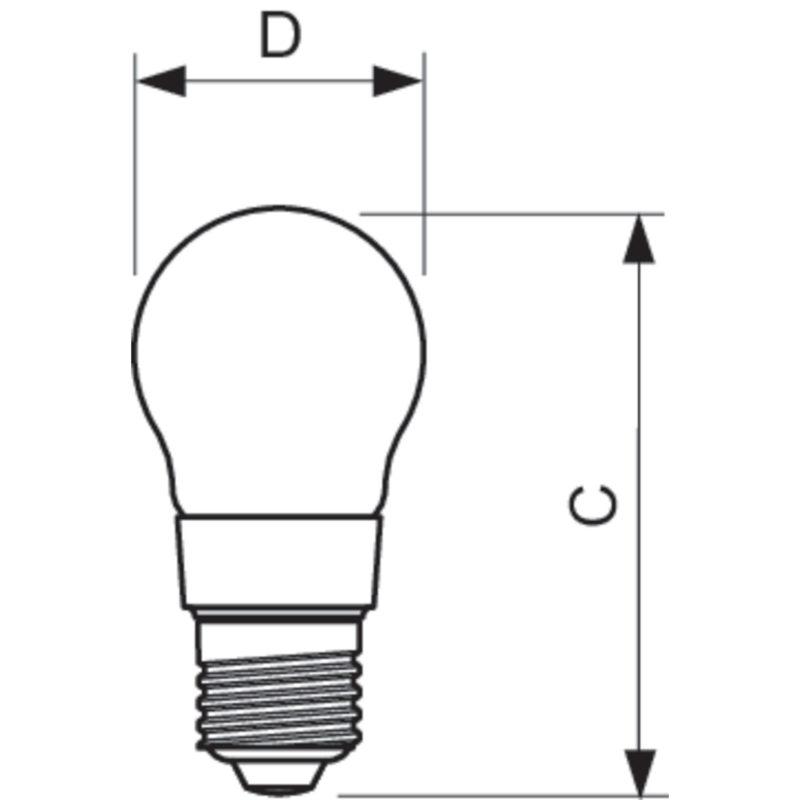 Philips LED Filament E27 4.5W 2700K-929001227602-Diagram
