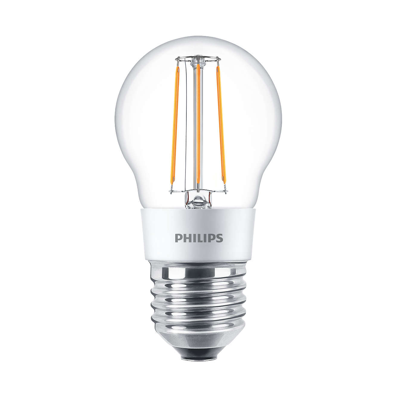 philips led filament bulb clear p45 e27 4 5w 2700k. Black Bedroom Furniture Sets. Home Design Ideas