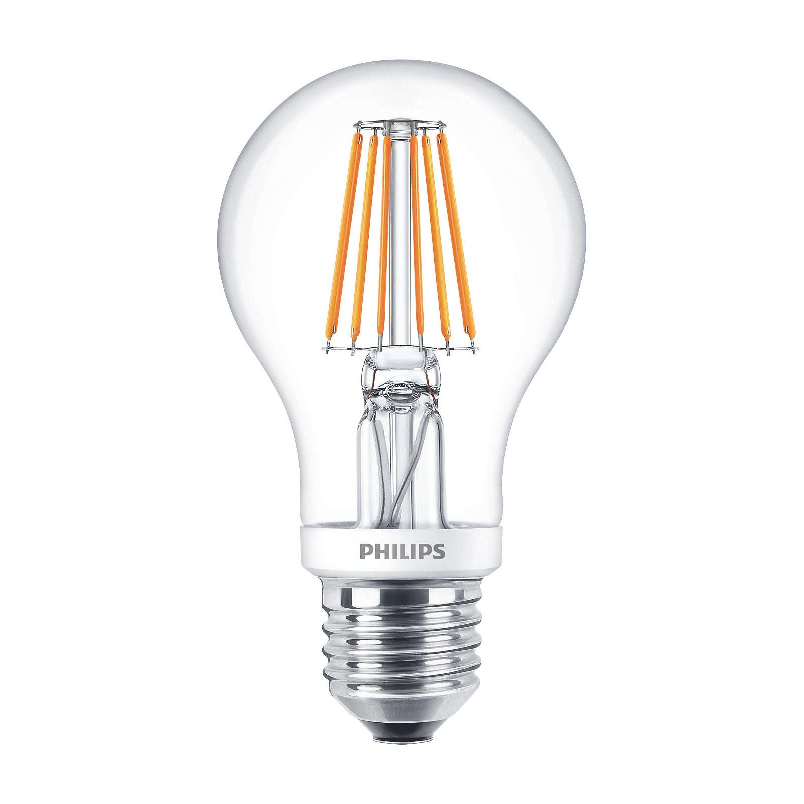 Philips LED Filament Bulb Clear A60 E27 7.5W 2700K