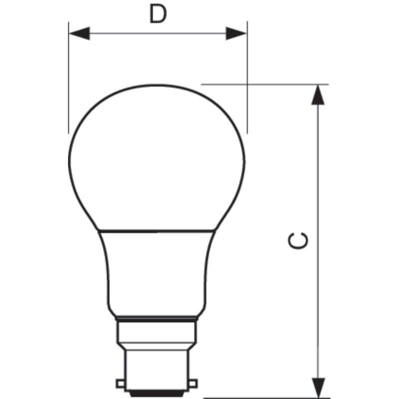 Philips LED Filament Gold B22 7.5W 2000K-929001257802-Diagram