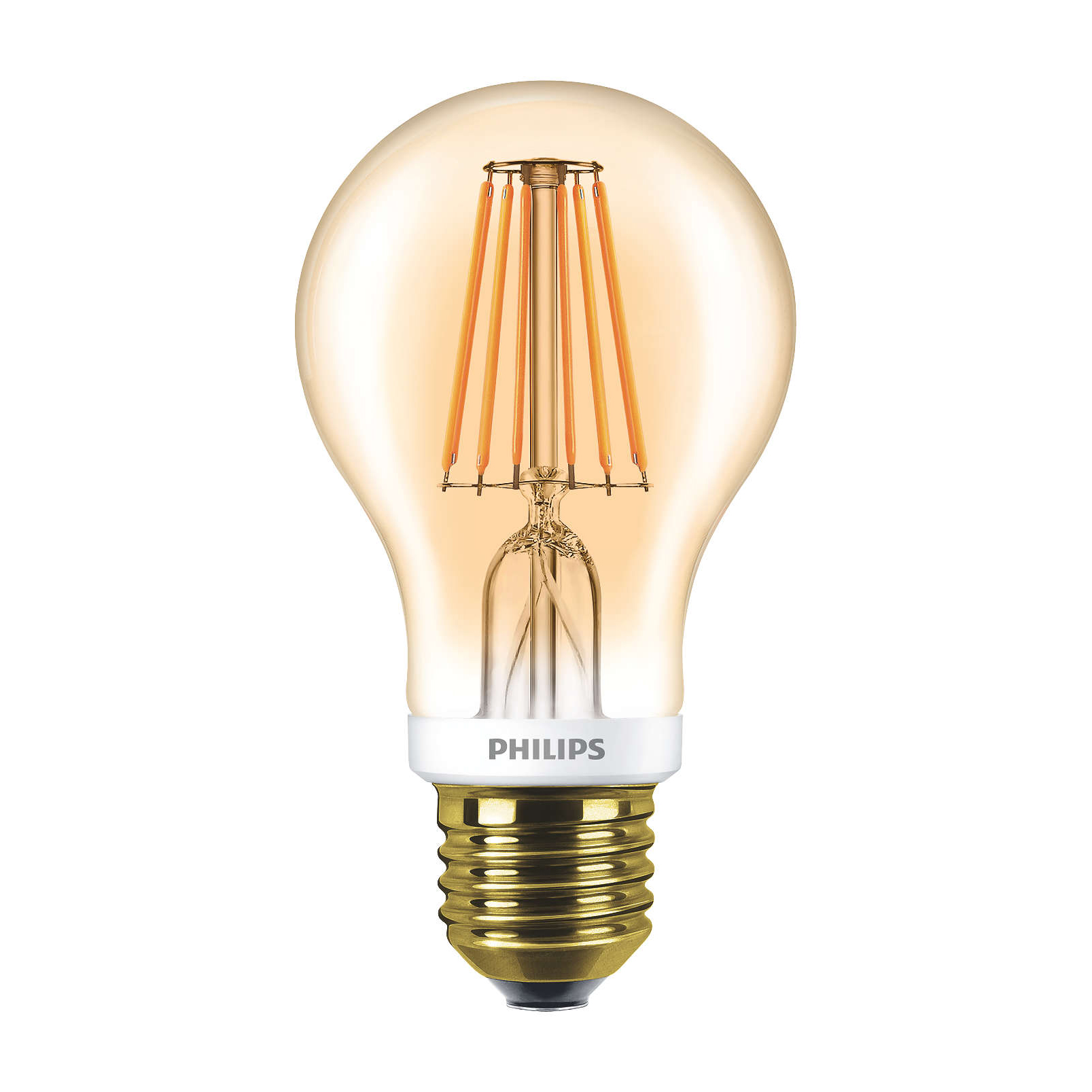 philips led filament bulb gold a60 e27 7 5w 2000k. Black Bedroom Furniture Sets. Home Design Ideas