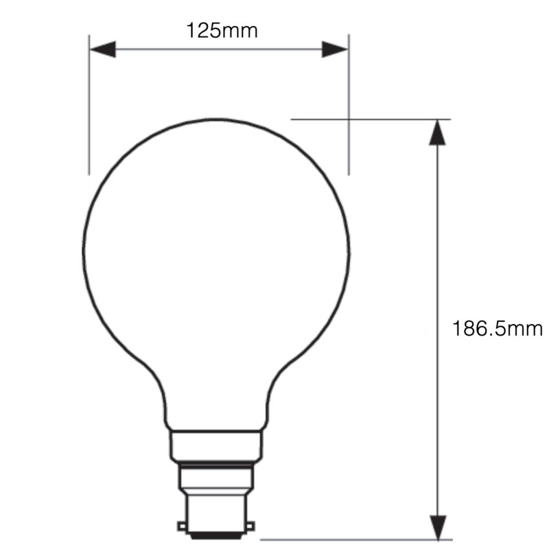 Philips LED Filament Gold Globe B22 7W 2000K-929001257902