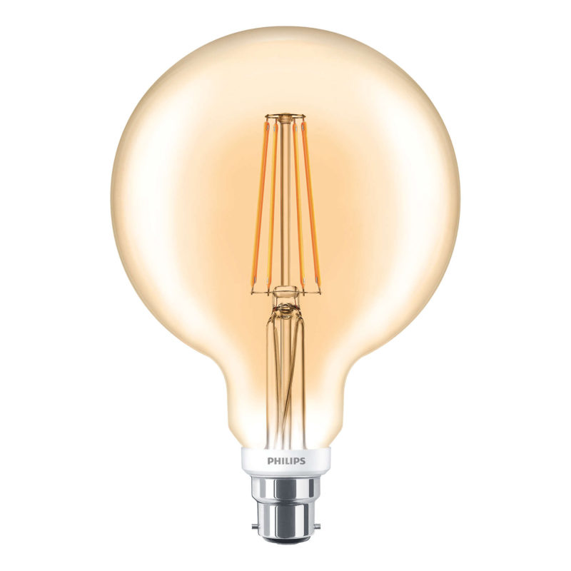 Philips LED Filament Gold Globe B22 7W 2000K-929001257902-Main