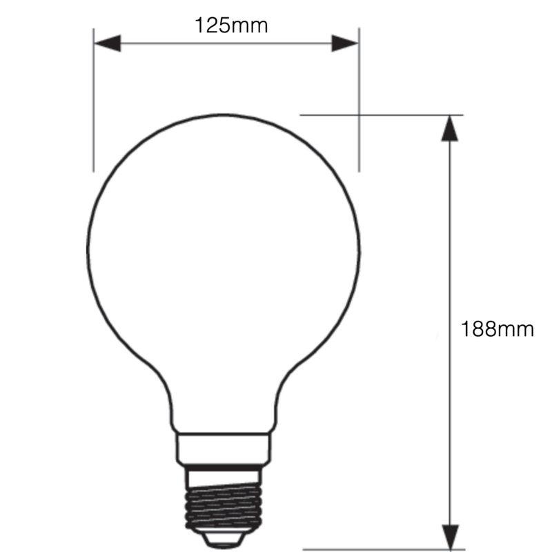 Philips LED Filament Gold Globe E27 7W 2000K-929001229102