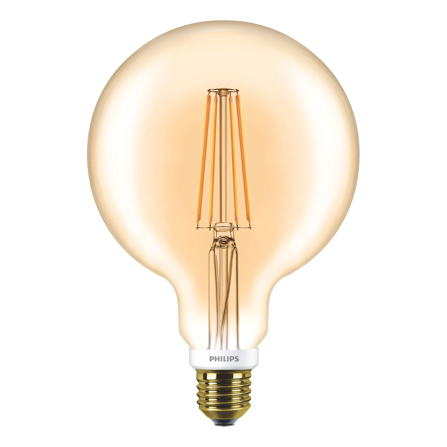 philips extra large led filament globe gold g120 e27 7w 2000k. Black Bedroom Furniture Sets. Home Design Ideas