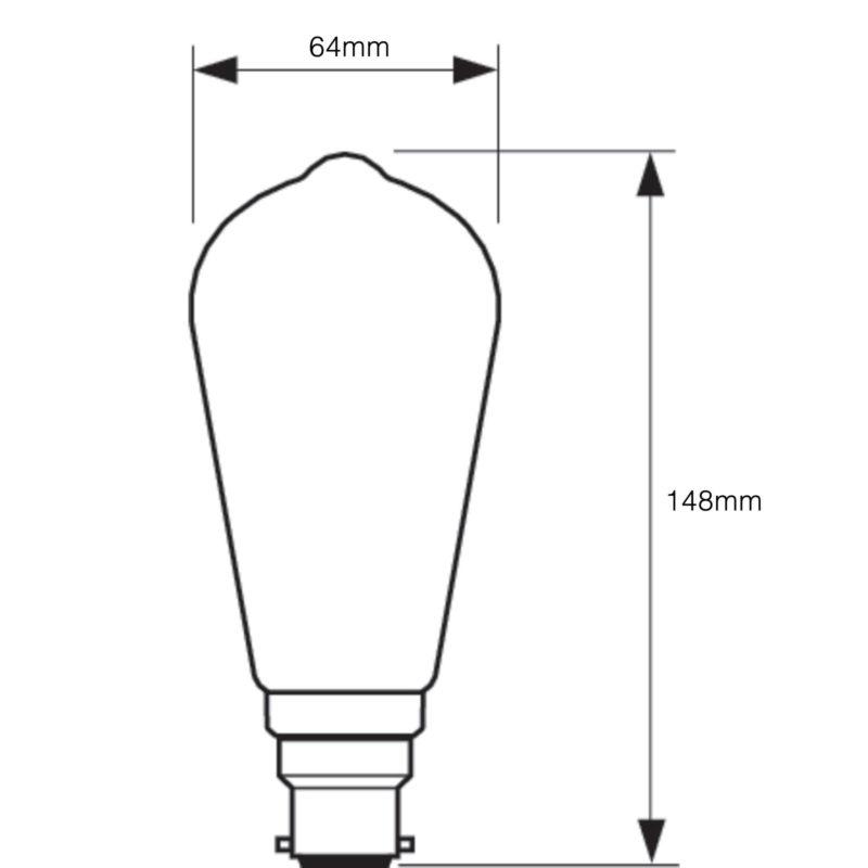 Philips LED Filament Gold ST64 B22 7W 2000K-929001228402