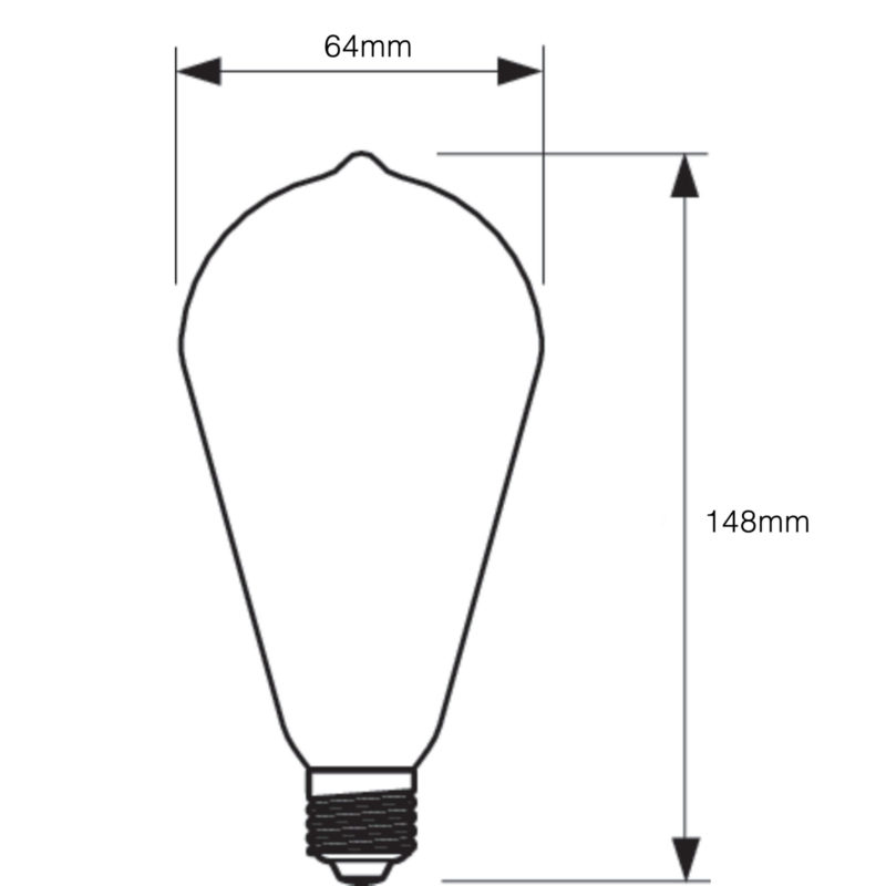 Philips LED Filament Gold ST64 E27 7W 2000K-929001228902