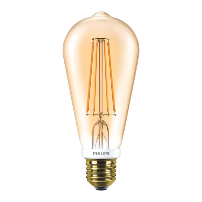 Philips LED Filament Gold ST64 E27 7W 2000K-929001228902-Main