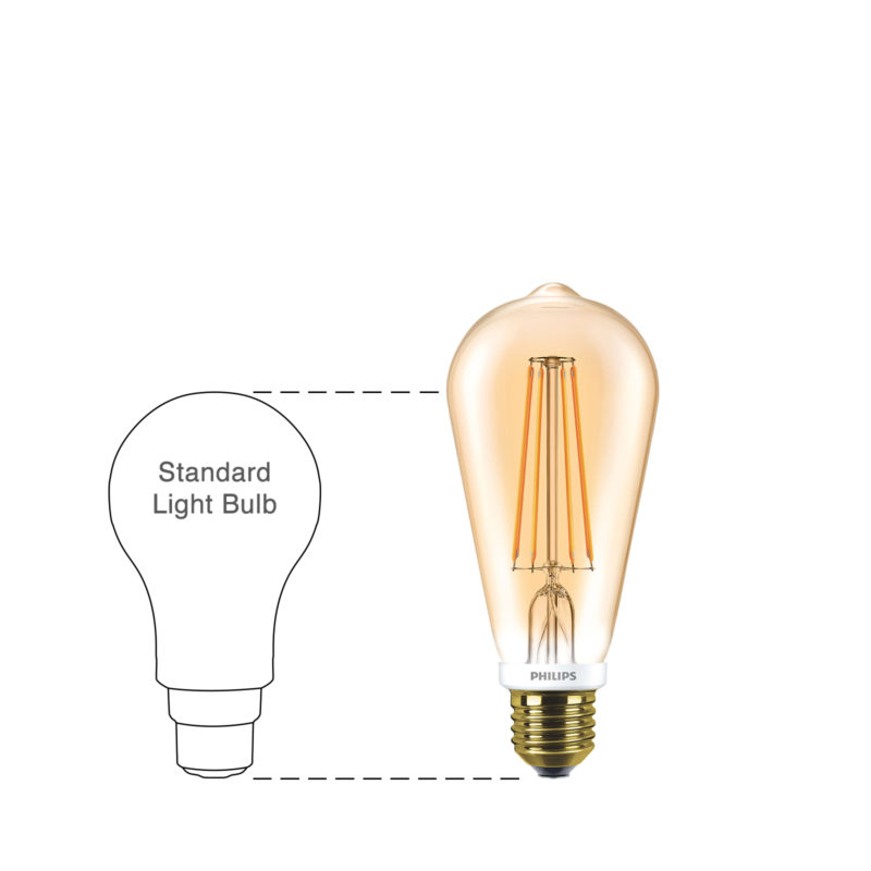 Philips LED Filament Gold ST64 E27 7W 2000K-929001228902-Main-wd