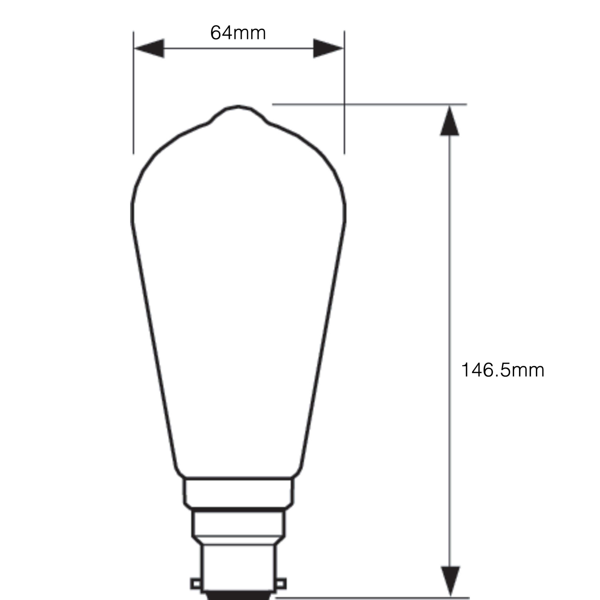 Philips LED Filament ST64 B22 7W 2700K-929001228802