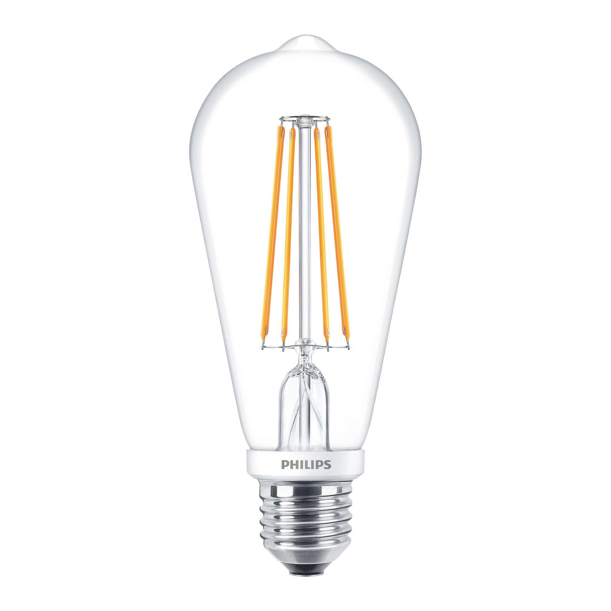 philips large led filament bulb st64 clear e27 7w 2700k. Black Bedroom Furniture Sets. Home Design Ideas