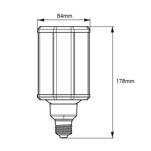 Philips-TrueForce-LED-Corn-Lamp-E27-4000K-Dimensions