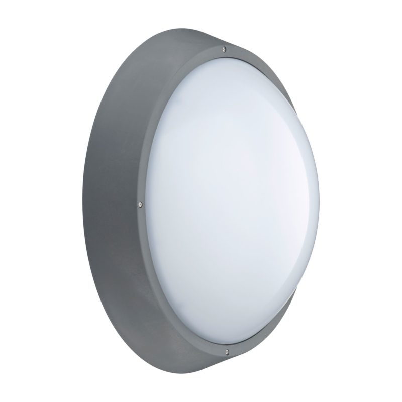 Philips Wall Mount Grey Round - Side