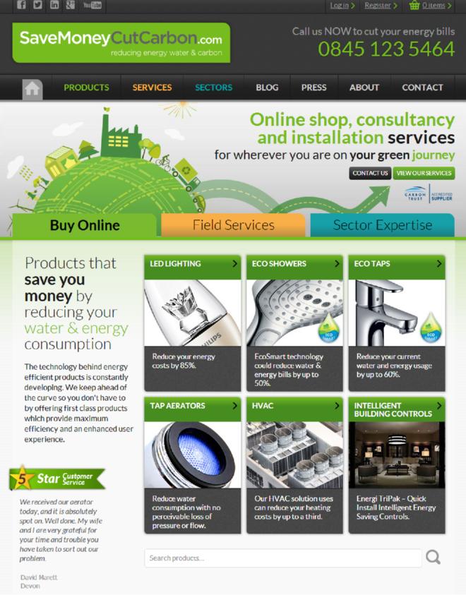 Image of SaveMoneyCutCarbon.com homepage