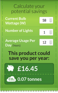 Samsung L-Tube LED Saving Calculator