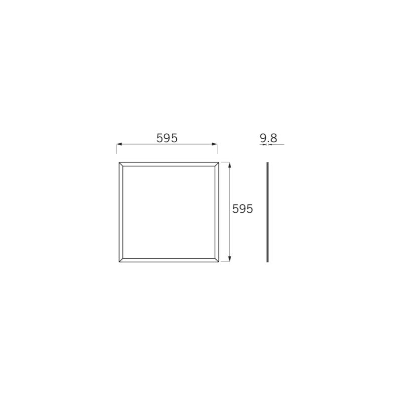 JCC Skytile Base 600x600mm LED Panel 32W 4200k Standard Driver CAD