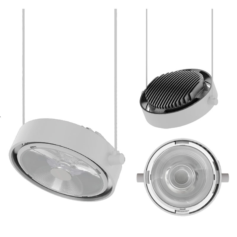 Soraa Arc Pendant LED Pendant 18W 4000K White 36 Degree