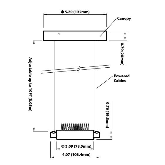 Soraa Arc Pendant LED Pendant 11W 4000K White 10 Degree