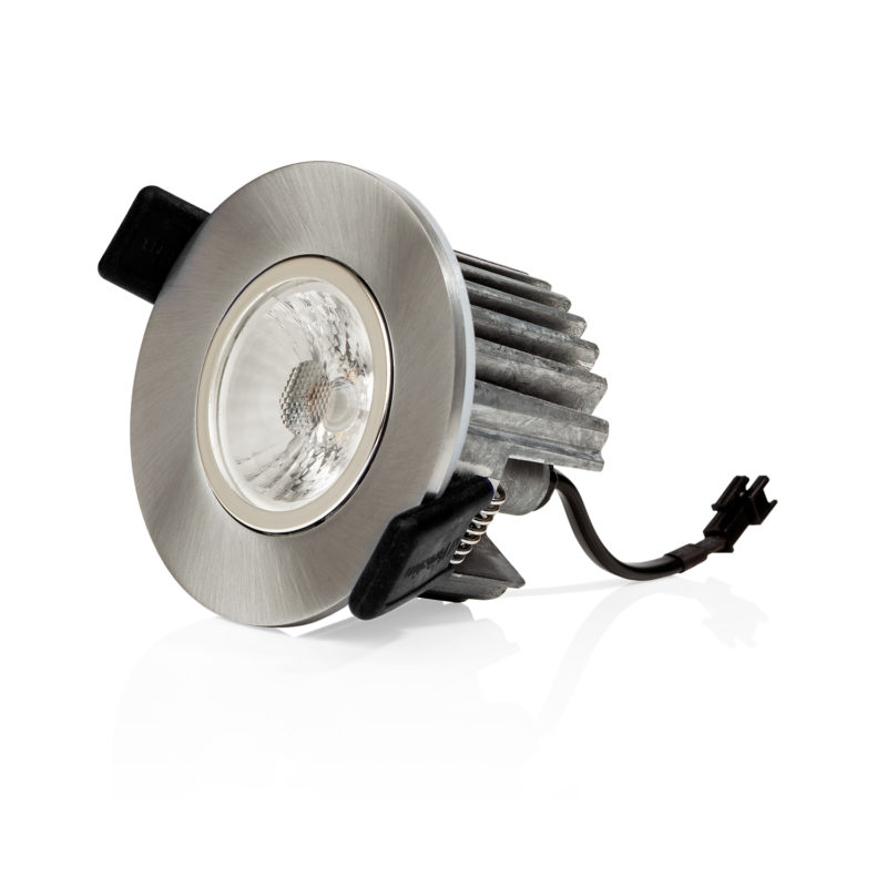 Verbatim LED Recessed Spotlight 3000K Silver Side