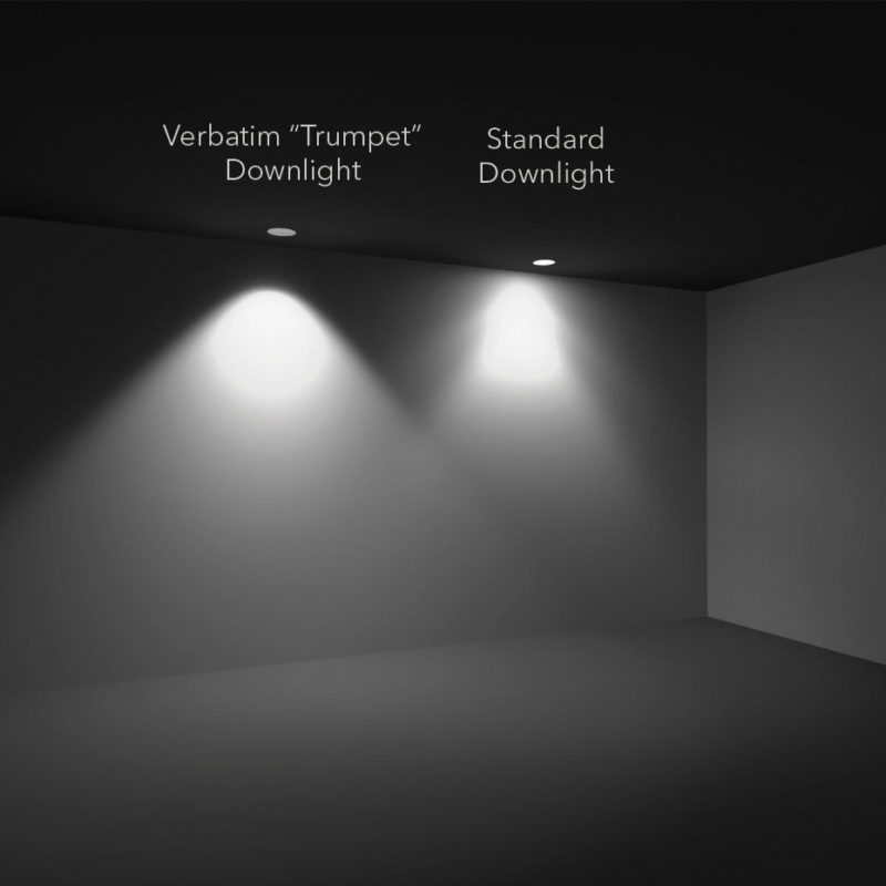Verbatim LED Trumpet vs Downlight