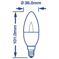 Verbatim LED VxRGB Candle (Clear) 2.5W 1900K Draw | SaveMoneyCutCarbon