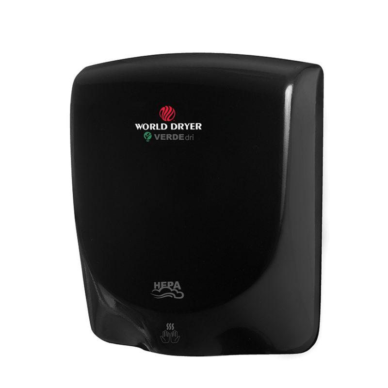 World Dryer VERDEdri Black Aluminium Hand Dryer