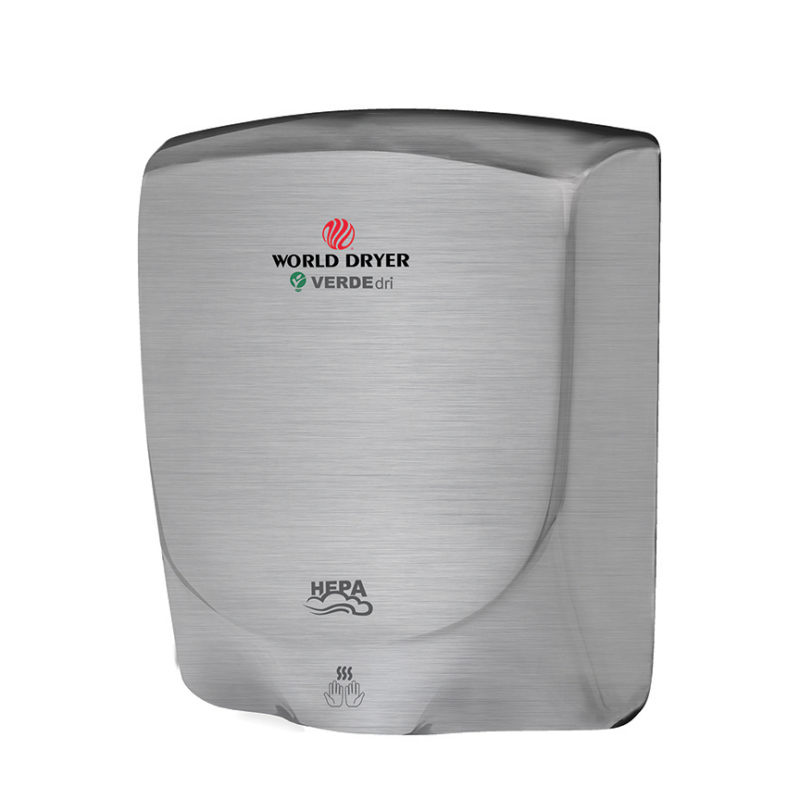 World Dryer VERDEdri Brushed Stainless Steel Hand Dryer