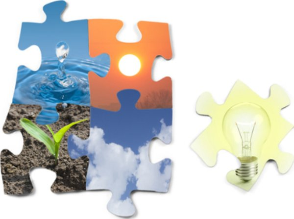 Jigsaw image of energy saving