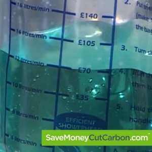 image of SaveMoneyCutCarbon water flow bag