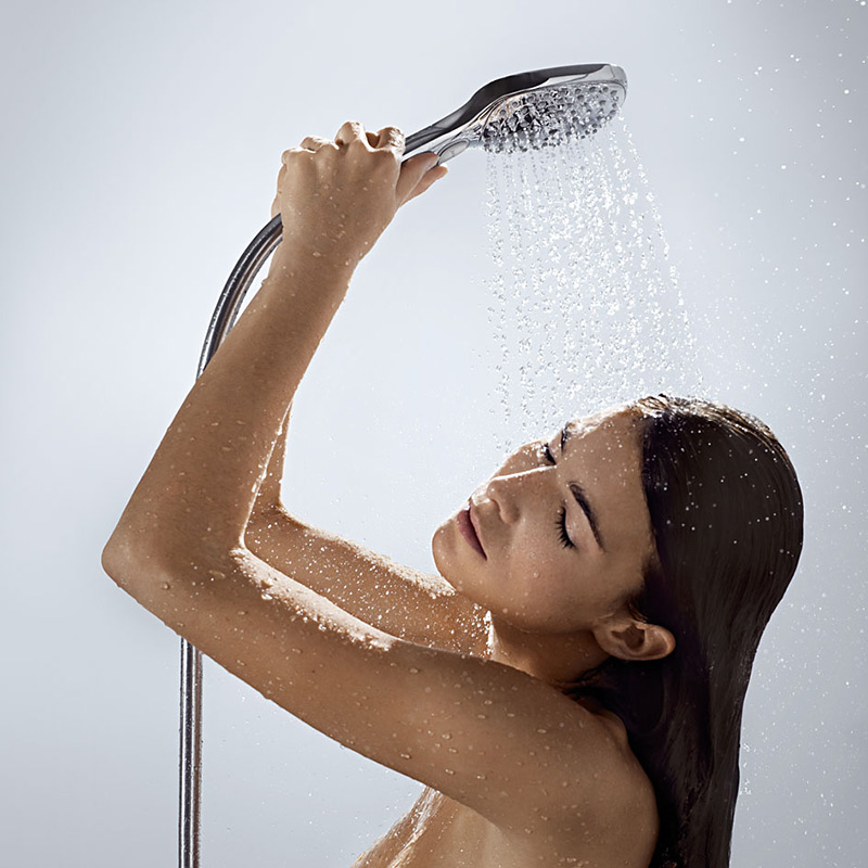 hansgrohe select e120 raindance ecosmart hand held shower head savemoneycutcarbon. Black Bedroom Furniture Sets. Home Design Ideas