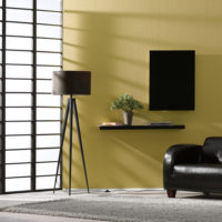 Herschel Inspire Black Glass Far Infrared Panel Heater Lounge Installation