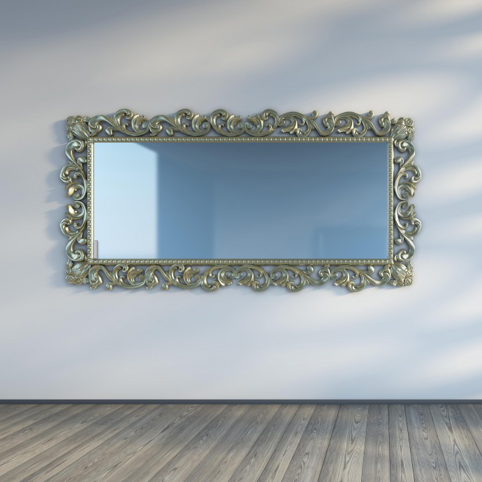 Herschel Select XL Mirror Installed with Frame