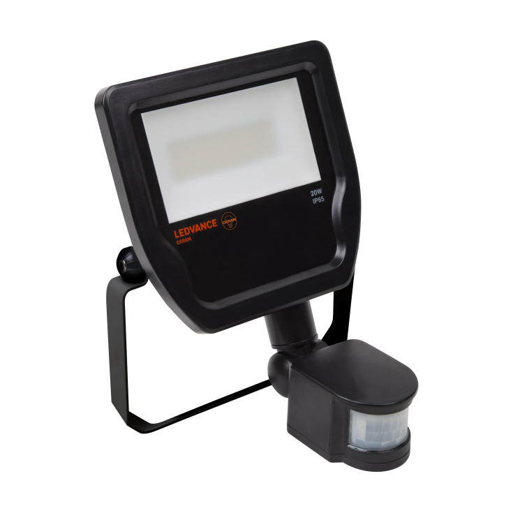 Ledvance Led Pir Floodlight 20w Black 3000k