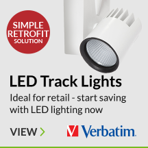 Small Verbatim LED Track Lights ideal for Retail