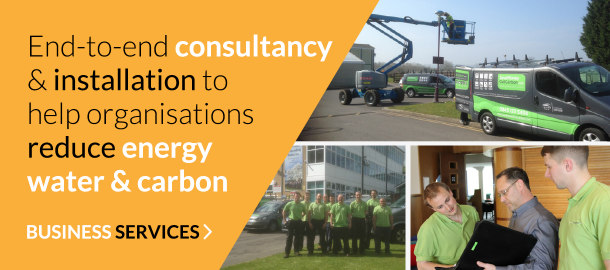 End-to-end consultancy & installation to help organisations reduce energy water & carbon