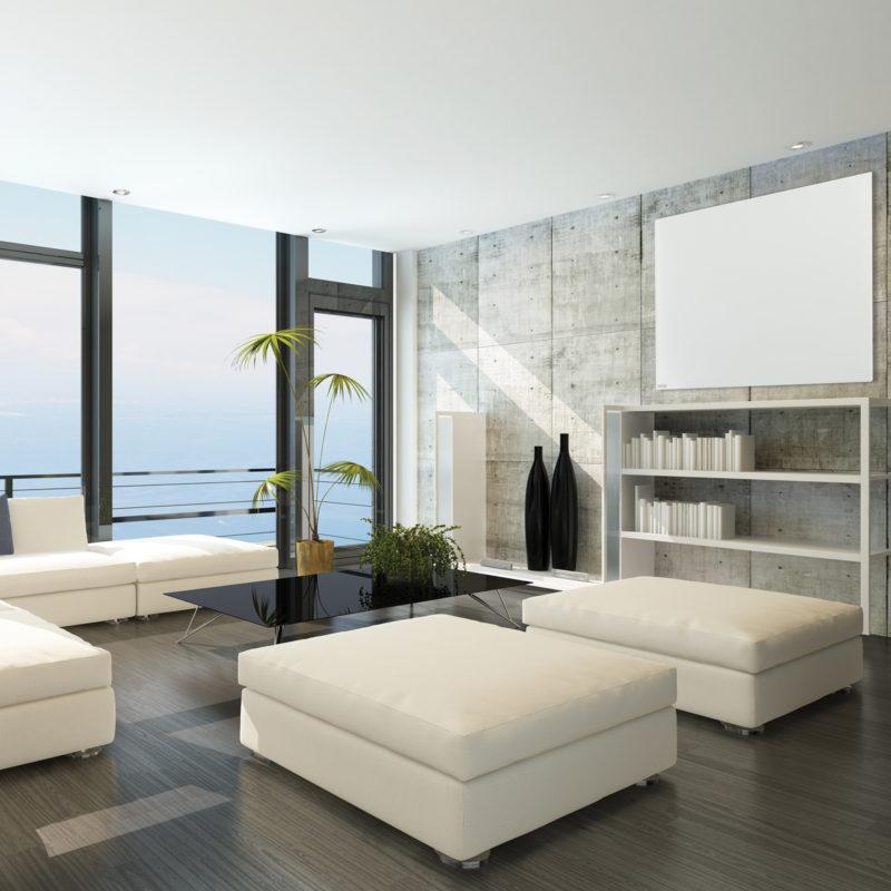 Herschel Select XL White Frameless Far Infrared Panel Heater Penthouse Installation