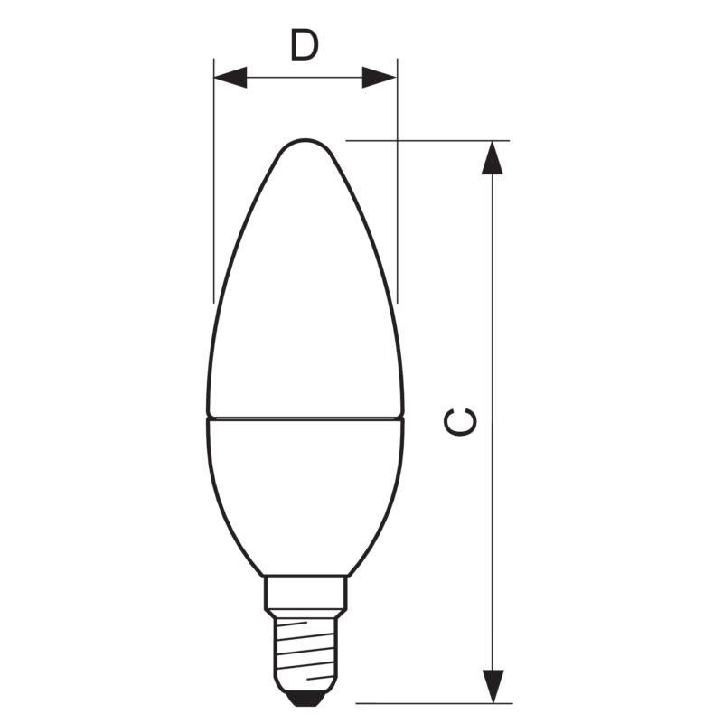 Philips MASTER LEDcandle DiamondSpark E14 - Measurements