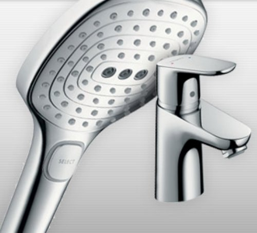 Image of eco shower head and eco tap - water saving solutions - SaveMoneyCutCarbon